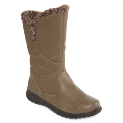 Totes Womens Belle Winter Boots Zip