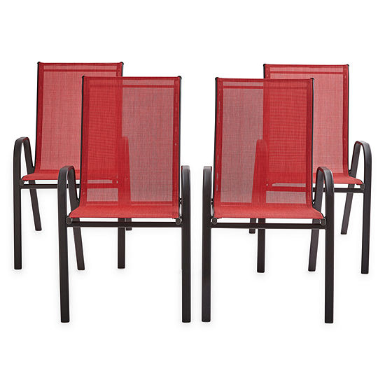 Outdoor Oasis Melbourne Sling Stacking 4-pc. Patio Chair Set