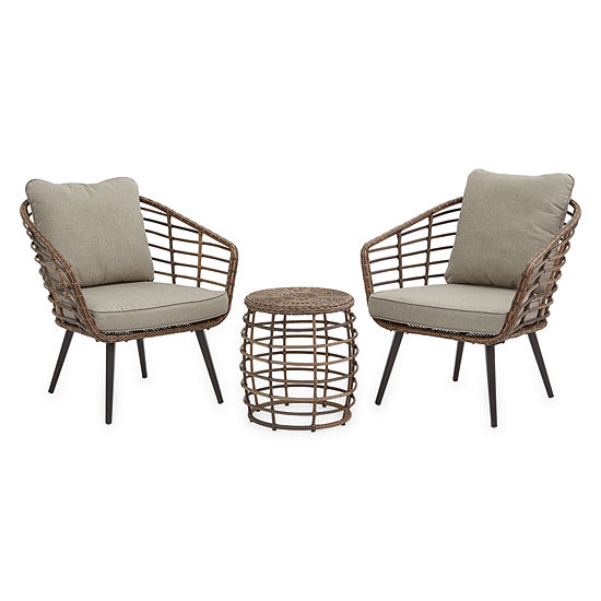 Outdoor Oasis Sanibel 3-pc. Wicker Chat Set