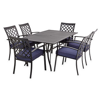 Outdoor Oasis Santa Rosa 7-Piece Slat Top Table Patio Dining Set