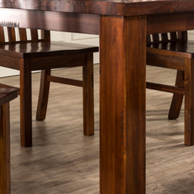 Hillsdale House Outback Rectangular Wood-Top Dining Table