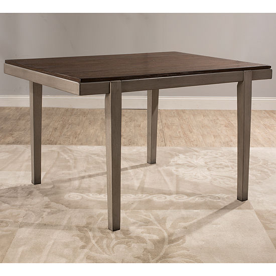 Hillsdale House Garden Park Square Wood-Top Dining Table