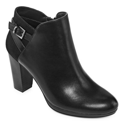 Andrew Geller Womens Keira Dress Boots Block  Zip Heel