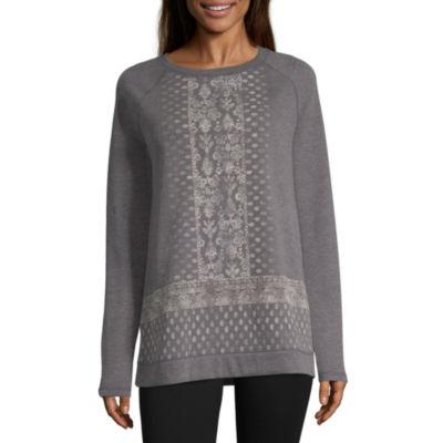 St. John's Bay Active Long Sleeve Graphic Sweatshirt - Tall