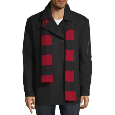 Izod Peacoat with Scarf