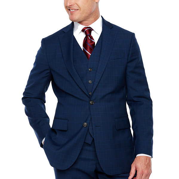 Stafford Travel Plaid Classic Fit Stretch Suit Jacket