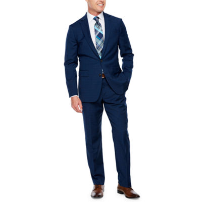 Stafford Travel Plaid Slim Fit Stretch Suit Jacket