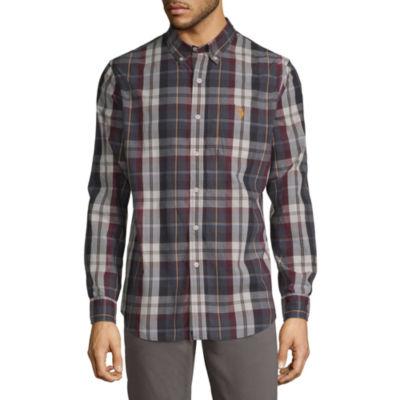 U.S. Polo Assn. Long Sleeve Plaid Button-Front Shirt-Slim
