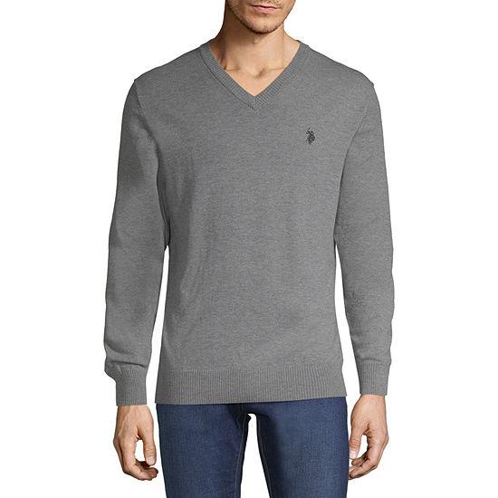 U.S. Polo Assn. V Neck Long Sleeve Pullover Sweater