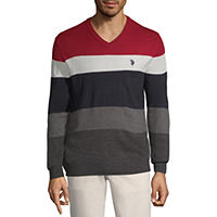 U.S. Polo Assn. V Neck Long Sleeve Pullover Sweater Deals