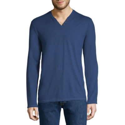 Boston Traders Long Sleeve Henley Shirt