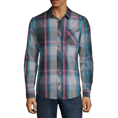 Zoo York Mens Long Sleeve Button-Front Shirt