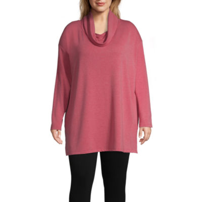 St. John's Bay Active Cowl Neck Tunic - Plus