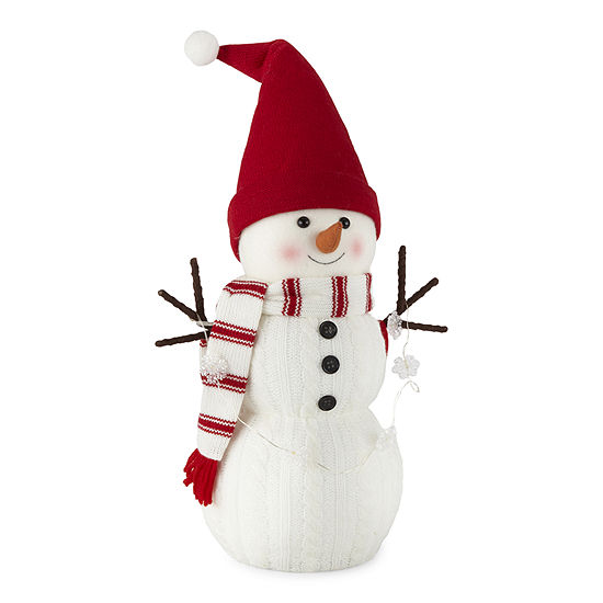 North Pole Trading Co. Sleigh Ride LED Lighted Snowman Figurine
