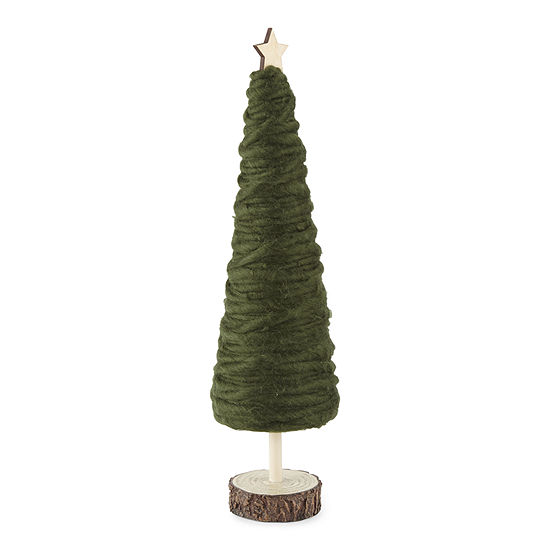 "North Pole Trading Co. Enchanted Woods 14"" Yarn Christmas Tabletop Tree"