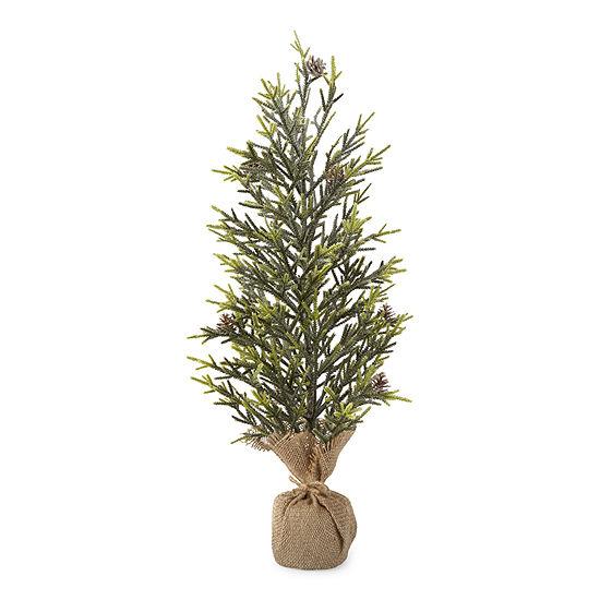"North Pole Trading Co. 24"" Burlap Christmas Tabletop Tree"