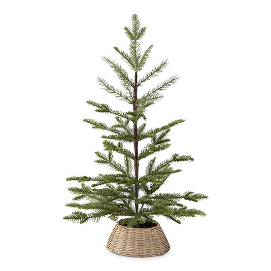 """North Pole Trading Co. 25"""" Willow Collar Christmas Tabletop Tree"""