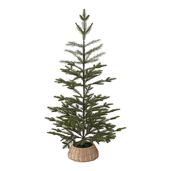 """North Pole Trading Co. 36"""" Willow Collar Christmas Tabletop Tree"""