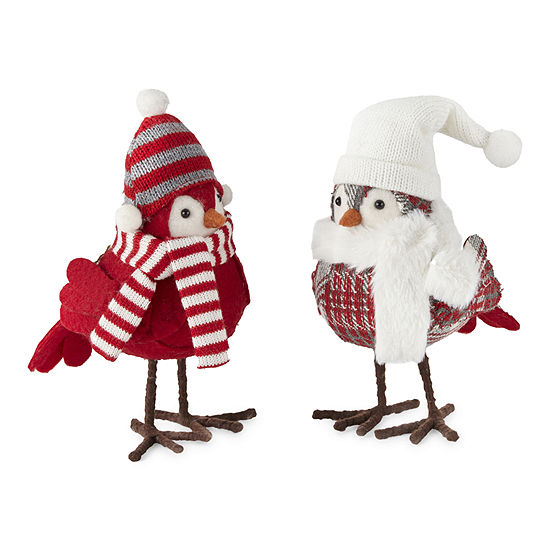 North Pole Trading Co. Sleigh Ride Snowbird Christmas Animal Figurines