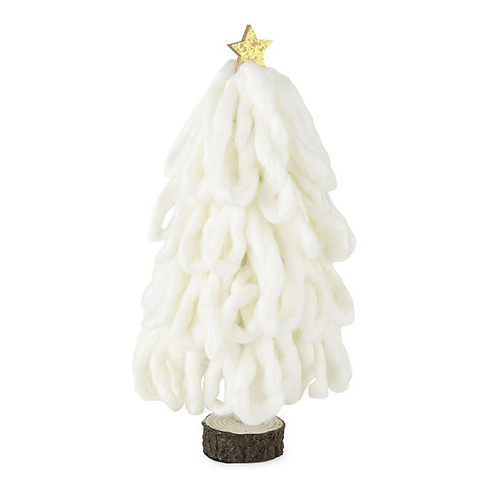 "North Pole Trading Co. Enchanted Woods 12"" Yarn Loop Christmas Tabletop Tree"