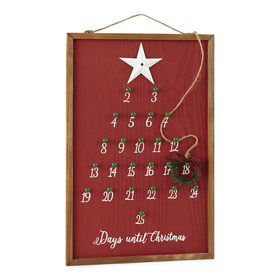 North Pole Trading Co. Sleigh Ride Christmas Tree Wall Sign