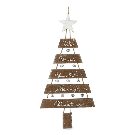 North Pole Trading Co. Enchanted Woods We Wish You A Merry Christmas Wall Sign