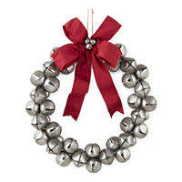 North Pole Trading Co. Jingle Bells Indoor Christmas Wreath, One Size , Multiple Colors