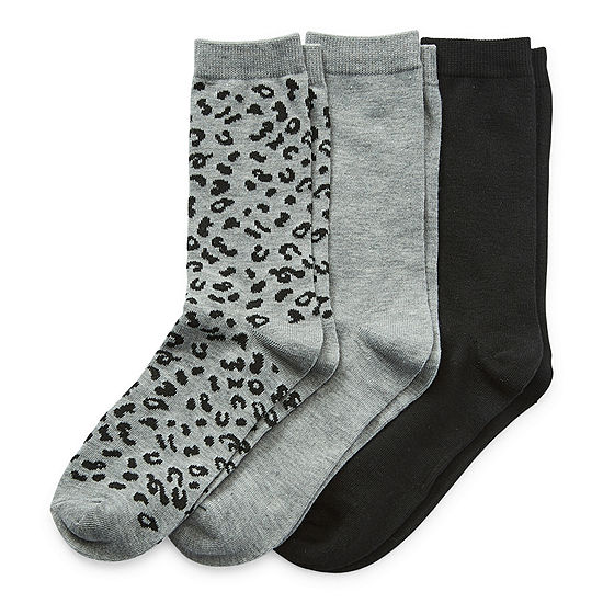 Legale 3 Pair Womens Crew Socks
