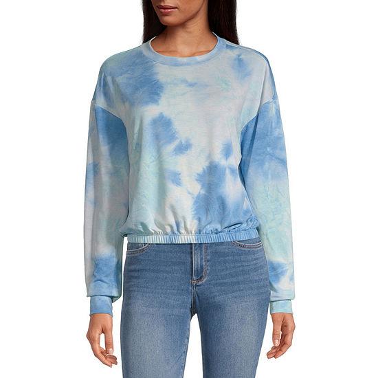 Cut And Paste Juniors Womens Crew Neck Long Sleeve Sweatshirt