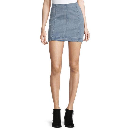 Rewind Womens Denim Skirt-Juniors