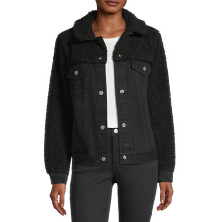 Arizona Midweight Denim Jacket-Juniors, X-small , Black