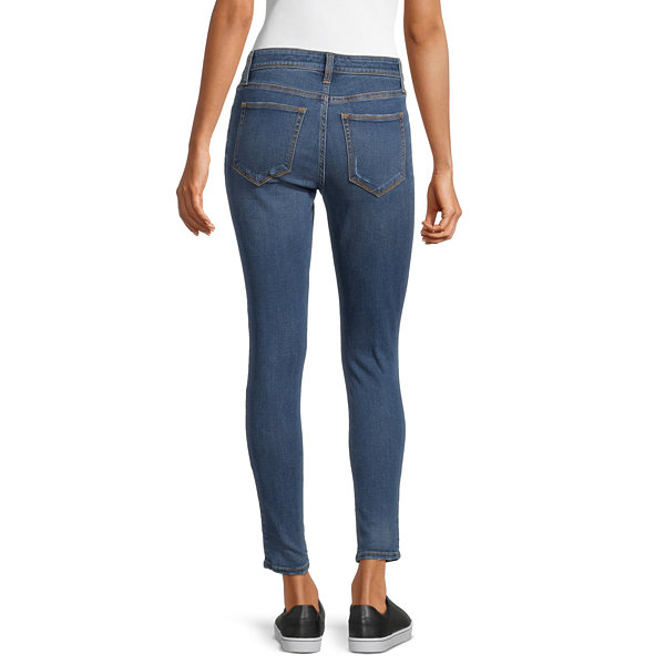 Arizona Womens Mid Rise Straight Leg - Juniors