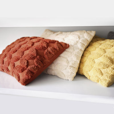 Home Expressions Tufted Woven Geo Lumbar Pillow
