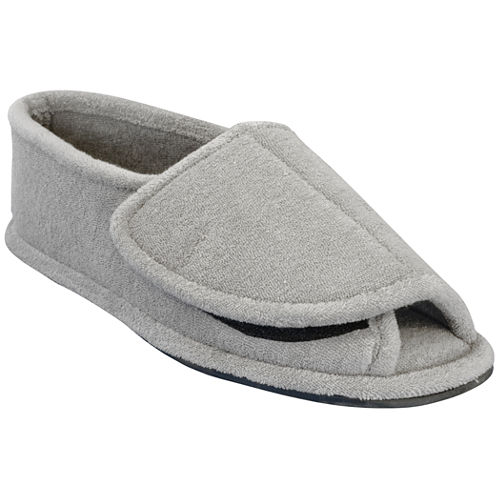 MUK LUKS® Mens Terry Open-Toe Slippers