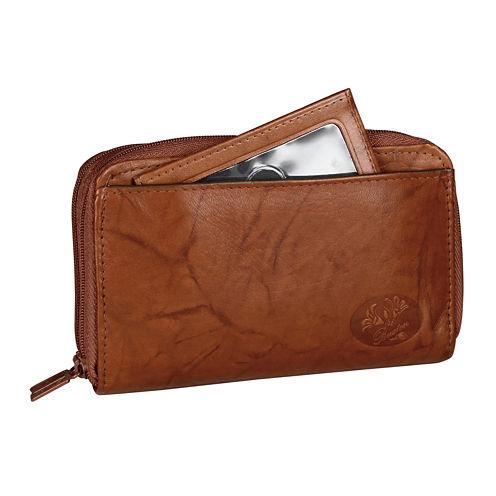 Buxton Heiress Double Zip Indexer Zip Around Wallet
