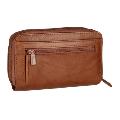 Buxton Heiress Double Zip Indexer Zip Around Wallet