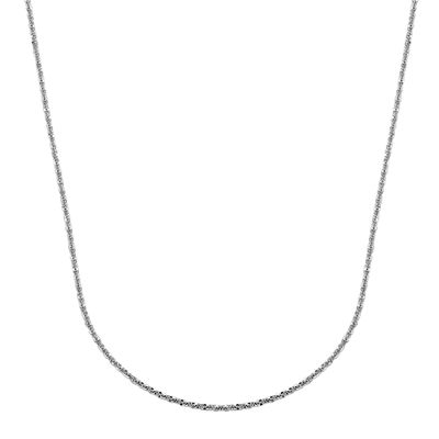 "14K White Gold 18"" Brilliant-Cut Chain"