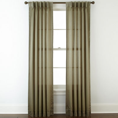 Royal Velvet® Hilton Pinch-Pleat/Back-Tab Curtain Panel