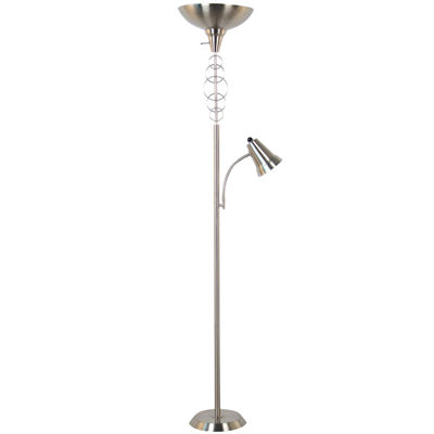 Torchiere Halo Floor Lamp with Reading Light