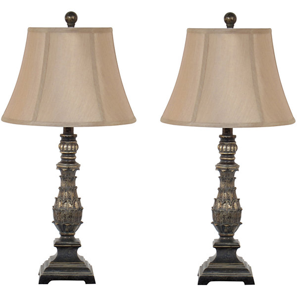 JCPenney Home™ Decorative Artisan Floral Table Lamp Set