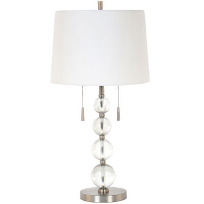 Jcpenney Home Designer Twin Pull Clear Acrylic Table Lamp