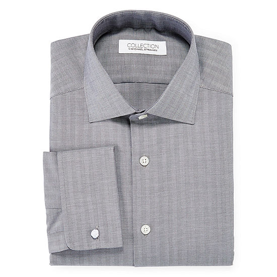 Collection by michael strahan cotton stretch french cuff for Big and tall french cuff dress shirts