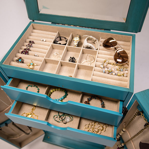Hives & Honey Cabby Turquiose Jewelry Armoire