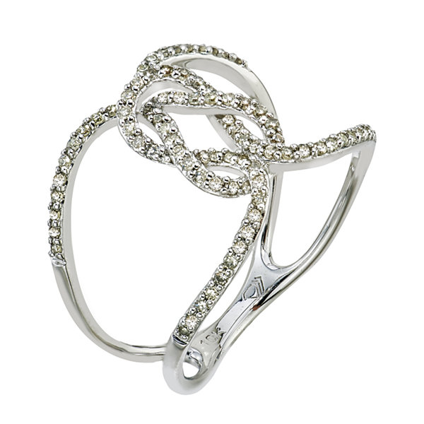 1/3 CT. T.W. Diamond 10K White Gold Ring