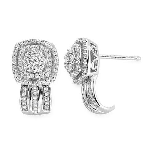 Diamond Blossom 3/4 CT. T.W. Round White Diamond 10K Gold Stud Earrings