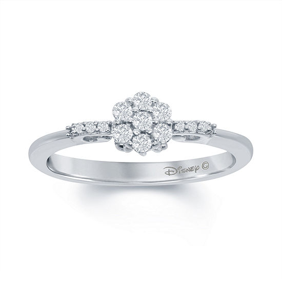"Enchanted Disney Fine Jewelry 1/4 C.T. T.W. Genuine Diamond 10K White Gold ""Cinderella"" Carriage Ring"