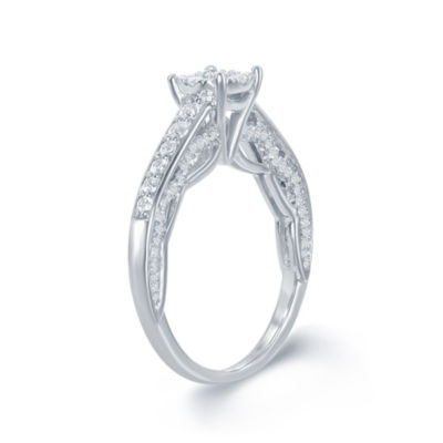 "Enchanted by Disney 3/4 C.T. T.W. Diamond 14K White Gold ""Disney Princess"" Gown Outline Ring"
