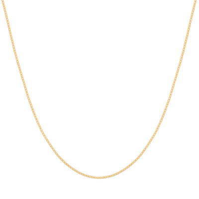 "14K Yellow Gold 063 20"" Box Chain Necklace"