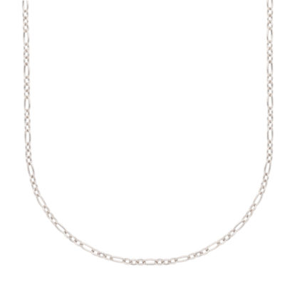 "14K White Gold 18"" Cable Chain Necklace"