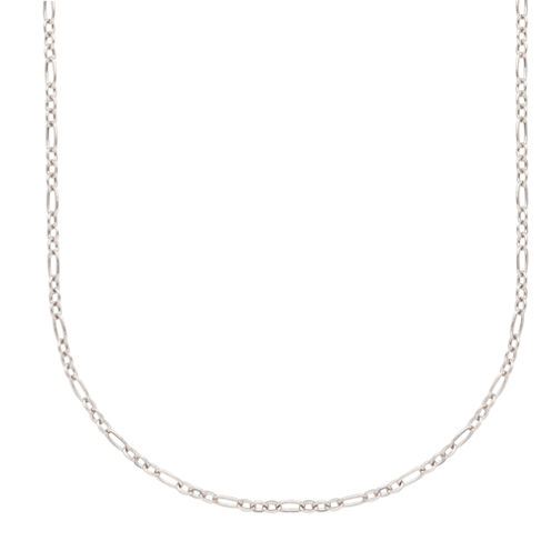"""14K White Gold 18"""" Cable Chain Necklace"""